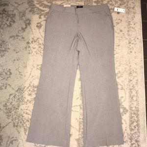 NWT Gap Aubrey gray ankle trouser size 10